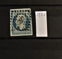 08 - 20 - France - N° 14 Oblitération PC 2227 - Narbonne - Aude - 1853-1860 Napoleone III