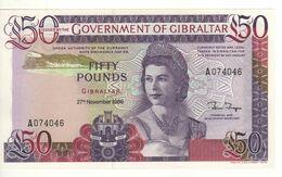 GIBRALTAR   £ 50   Queen Elizabeth II - Gibraltar    P24  Dated 27.11.1986   UNC - Gibilterra