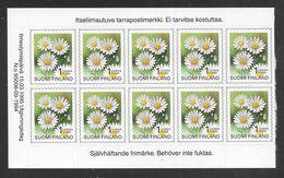 Finland - 1995 Flowers - Block 10 X 1st Self Adhesive - MNH - Finlandia