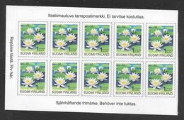 Finland - 1996 Flowers - Block 10 X 1st Self Adhesive - MNH - Finlandia