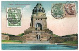 Leipzig – Völkerschlachtdenkmal – Esperanto – Stamps 5 And 35 Deutsches Reich And Esperanto – Year 1920 - Leipzig