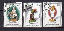 MONACO     Oblitéré     Y. Et T.   N° 1743 / 1745      Cote: 3,15 Euros - Monaco