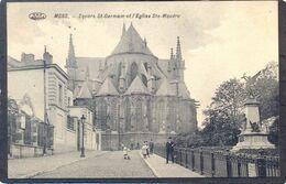 MONS - Square St- Germain Et L'Eglise Ste-Waudru (Feldpost) - Mons