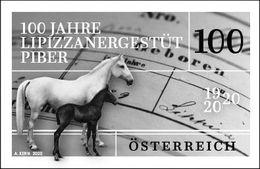 Austria 2020 1 V MNH Black Print 100th Anniversary Of The Lipizzaner Stud Farm In Piber Equestrian Hippisme Horses Horse - Horses