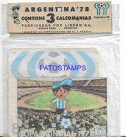 140847 ARGENTINA MUNDIAL WORLD CUP 1978 SOCCER FUTBOL 3 CALCOS NO POSTAL POSTCARD - Zonder Classificatie