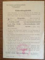 """III. Reich, """" Deutscher Volkssturm, Einberufungsbefehl, Forstschule Ort Gmunden """", Pinsdorf, Ostmark - Storia Postale"""