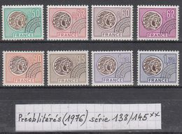 Préoblitérés Monnaie Gauloise(1976) Y/T Série 138/145 Neufs ** à 10% De La Cote - Vorausentwertungen