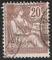 FRANCE : N° 126 Oblitéré (Type Mouchon) - PRIX FIXE : 30 % De La Cote - - 1900-02 Mouchon