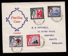 A6748) UK Gambia FDC ? 02.11.53 N. Hants / UK - Gambia (...-1964)