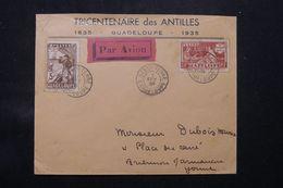 GUADELOUPE - Enveloppe Du Tricentenaire Des Antilles En Recommandé De Basse Terre En 1936 Pour La France - L 68360 - Lettres & Documents