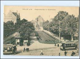 U6807/ Halle A.S. Alleepromenade Straßenbahn AK Ca.1910 - Duitsland