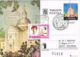 37399. Entero Postal MADRID 1975. España 75 Circulada A Barcelona Certificado - 1931-....