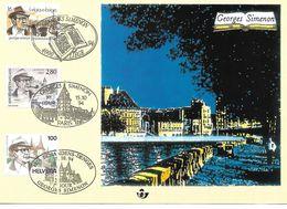 TIMBRE FRANCE OBLITERE 1994 - Carte Maximum - Georges Simenon - Emissions Communes. - 1960-69