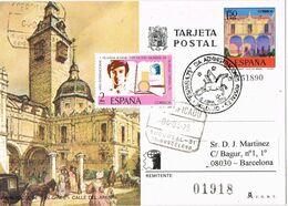 37400. Entero Postal MADRID 1975. España 75 Circulada A Barcelona Certificado - 1931-....