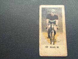 Chromo ( 1679 ) ( 5 X 2,5 Cm )  Cycliste  Coureur  Wielrenner  Renner   M. Kindt - Cycling