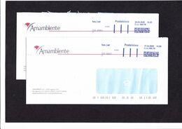 Posta Light, 2 Buste Amambiente Lagnasco (CN) 17-4-2020 E 24-4-2020 - Affrancature Meccaniche Rosse (EMA)