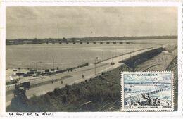 37405. Tarjeta Maxima Postal DOUALA (Camerun Frances) 1956. Le Pont Sur Le Wouri - Camerun (1915-1959)
