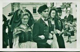 14313 - Bas Rhin - SCHERWEILER  : FETE DE LA LIBERATION DE L'ALSACE (25 Mars 1945) - PENDANT LE DEFILE   CARTE PHOTO - Altri Comuni