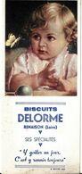BUVARD BLOTTING PAPER BISCUITS DELORME A RENAISON 42 LOIRE ENFANT PAPILLON - Koek & Snoep