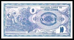 MACEDONIA 1 - 10 Denari 1992  UNC  ! - Macedonia