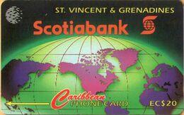 St. Vincent & The Grenadines - STV-12A, GPT, 12CSVA, Scotiabank, 20EC$, 5,000ex, 1995, Used As Scan - St. Vincent & Die Grenadinen