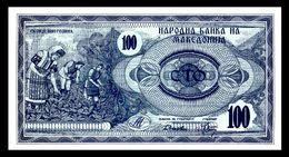 MACEDONIA 4 - 100 Denari 1992  UNC  ! - Macedonia