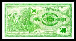 MACEDONIA 5 - 500 Denari 1992  UNC  ! - Macedonia