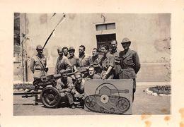 """010935 """"REGIO ESERCITO - ARTIGLIERIA CONTROCARRO CON SAGOMA BERSAGLIO - ANNI '40 XX SECOLO"""" ANIMATA. FOTO ORIG. - Guerre, Militaire"""