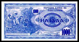MACEDONIA 6 - 1000 Denari 1992 UNC ! - Macedonia