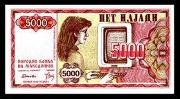 MACEDONIA 7 - 5000 Denari 1992 UNC ! - Macedonia
