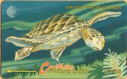 Virgin Islands - GPT, MV: BVI-21C, 21CBVC, BVI Wild Life - Turtle, 20,000ex, 1995, Used As Scan - Vierges (îles)