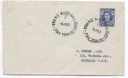 "AUSTRALIA - 1953 - OBLITERATION AMBULANT ""TRANS AUST. RAILWAY - PAY TRAIN"" Sur ENVELOPPE => MORTDALE N.S.W - Postmark Collection"
