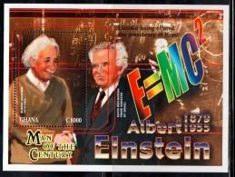 2000 Ghana  Einstein Science Physics Complete Set Of 1 Miniature Sheets  MNH - Ghana (1957-...)