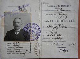 LIGNY Cate D'identité Ausweis Laisser Passer 1914-15 Stampel Middelkerke Feldpost Landwehr Infanterie Ersatz Bataillon - Unclassified