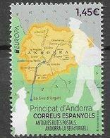 SPANISH ANDORRA, 2020, MNH,EUROPA, ANCIENT POSTAL ROUTES, 1v - 2020