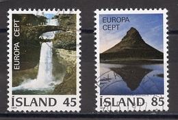Islande - Island - Iceland 1977 Y&T N°475 à 476 - Michel N°522 à 523 (o) - EUROPA - Used Stamps