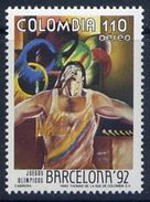 COLOMBIA 1992 - BARCELONA OLYMPICS 92 - YVERT Nº 848 - MICHEL 1866 - SCOTT C 851 - Verano 1992: Barcelona