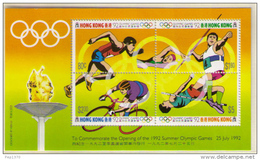 HONG KONG 1992 - OLYMPICS BARCELONA 92 - YVERT BLOCK Nº 21  (NOT OVERPRINT) - MICHEL BLOCK 21 - SCOTT SS 618 - Verano 1992: Barcelona
