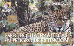 (CHIP ROJO) TARJETA DE GUATEMALA DE UN JAGUAR (LADATEL) - Guatemala