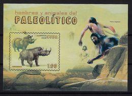 CUBA 2008. HB HOMBRES Y ANIMALES DEL PALEOLÍTICO. EDIFIL 5256 - Nuevos