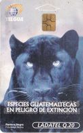 (CHIP NEGRO) TARJETA DE GUATEMALA DE UNA PANTERA NEGRA (LADATEL) PHANTER - Guatemala