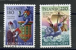 Europa CEPT 1981 Islande - Island - Iceland Y&T N°518 à 519 - Michel N°565 à 566 (o) - 1981