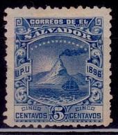 El Salvador 1896, Mt. San Miguel, 5c, Sc#149, Used - El Salvador