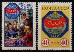 Russia 1959, Scott 2156-2157, MNH, Census, Family - Neufs