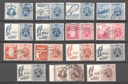 Petit Sceau De L'État  15 Timbres De 50 à 75 Centimes  Oblitérés - Publicités