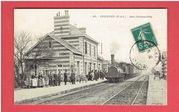 CHALONNES SUR LOIRE 1911 GARE CHALONNES ETAT CARTE EN TRES BON ETAT - Chalonnes Sur Loire