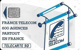 CARTE-PUBLIC 50U-600 AGENCES-Te38a.528-SC6 S/ Entourage-Sans Cadre Au N° Ge24087-0 Envers-Reste 34U-TBE RARE - 600 Agences