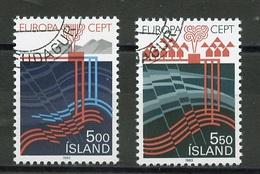 Islande - Island - Iceland 1983 Y&T N°551 à 552 - Michel N°598 à 599 (o) - EUROPA - Usados