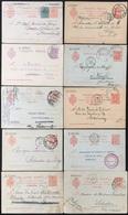 Espagne, España 10 Enteros Postales, Entier Postal, Scan R/V. - 1850-1931