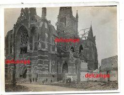 Orgineel Photo Bevrijding Dadizele Zicht Op De Vernielde Kerk 1919 Heropbouw Juist Na - 1914-18